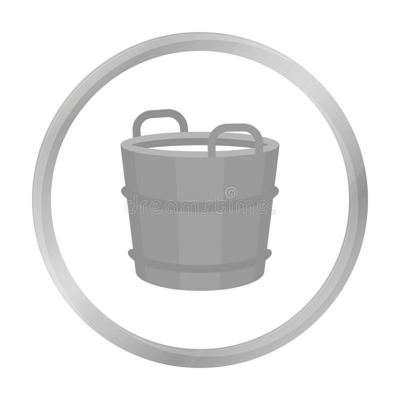 Zwart-wit het pictogram van de melkemmer Enige bio, eco, biologisch productpictogram van de grote zwart-wit melk stock illustratie