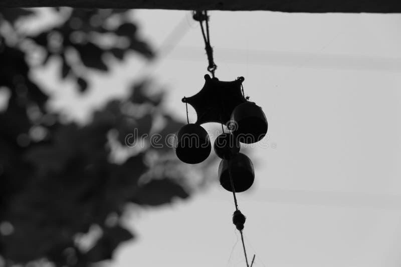 Zwart-wit, huisvoorwerp royalty-vrije stock foto