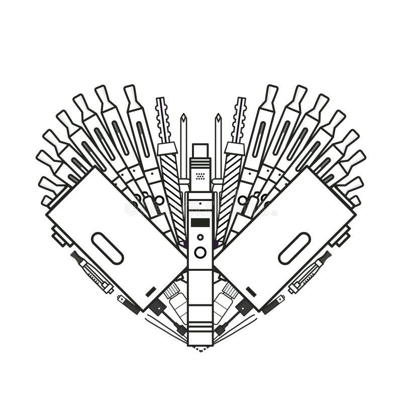 Zwart-wit illustratie van verstuiver royalty-vrije illustratie