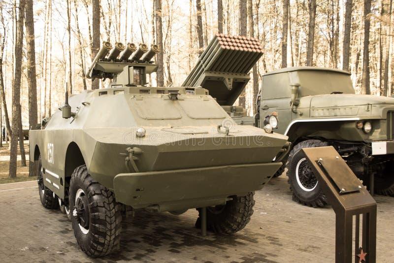 Zwart-wit infanterie het vechten voertuig royalty-vrije stock afbeeldingen