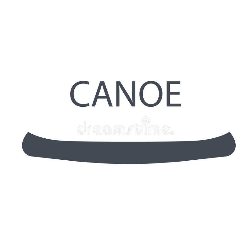 Zwart-wit kano, geïsoleerde vectorillustratie vector illustratie