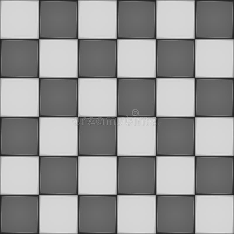 Zwart wit keramische tegel naadloos patroon vector illustratie afbeelding 38663464 - Tegel patroon badkamer ...