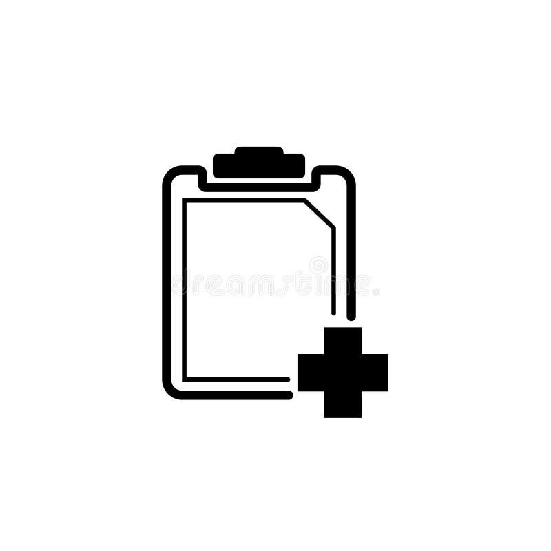 Zwart-wit klembordpictogram royalty-vrije illustratie