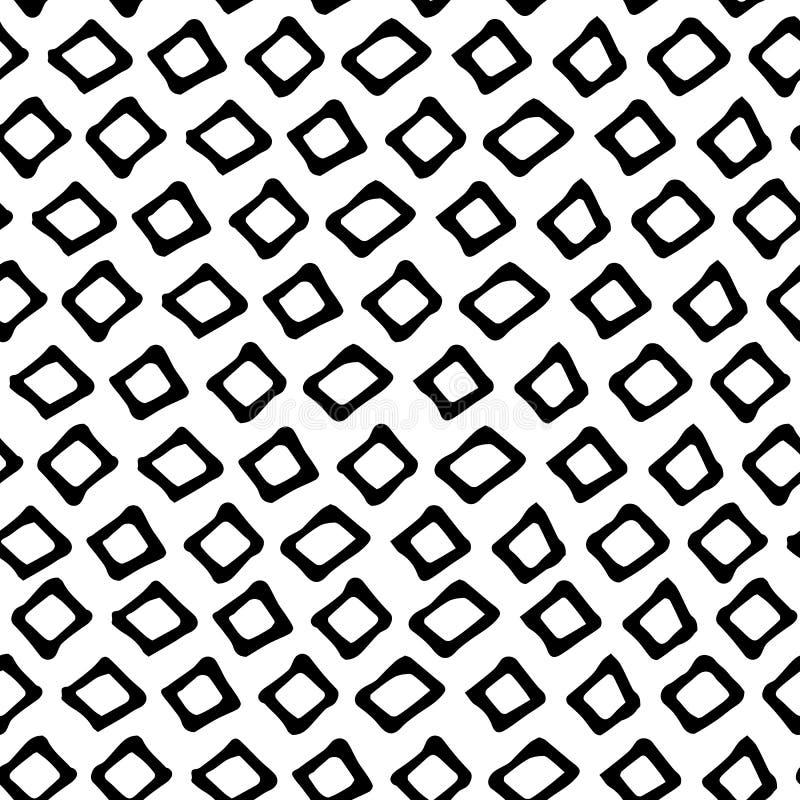 Zwart-wit krabbel naadloos patroon Krabbel minimalistisch naadloos patroon in zwart-wit stock illustratie
