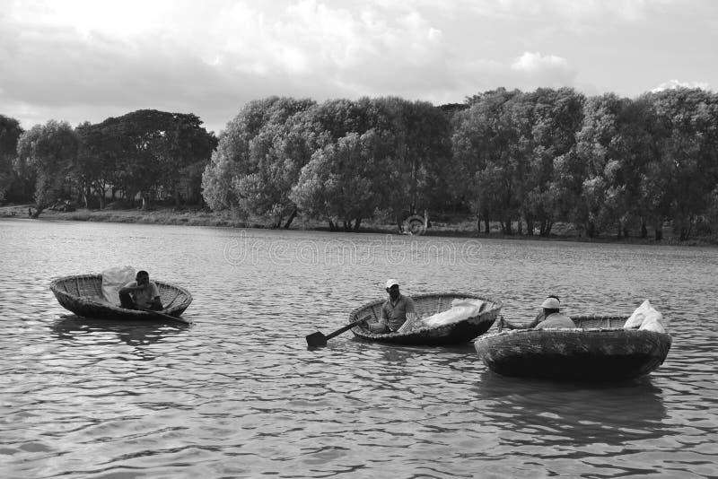 Zwart-wit landschap stock afbeelding