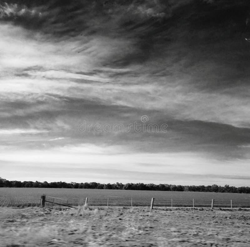 Zwart-wit landschap royalty-vrije stock fotografie