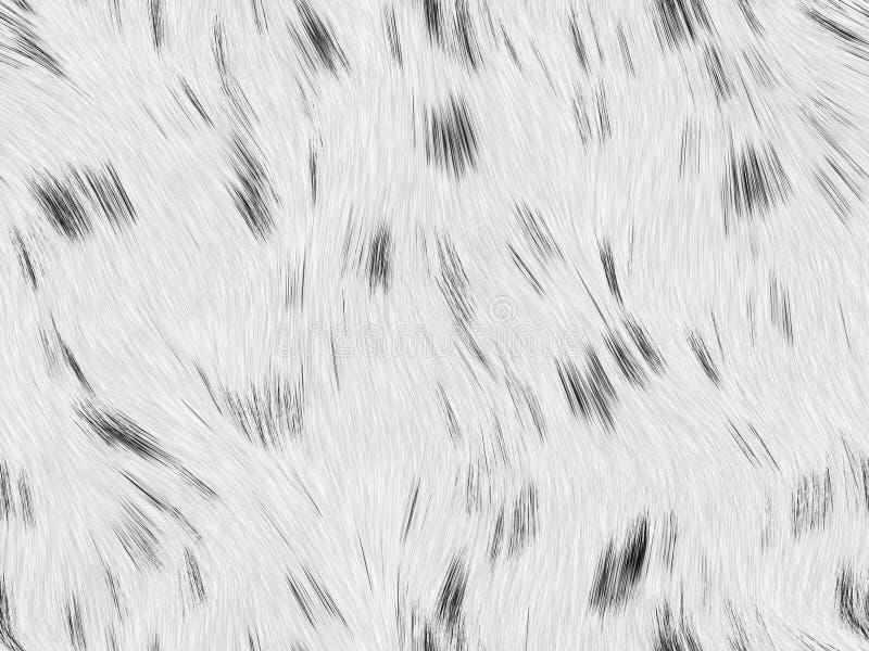 Zwart wit lang bont stock illustratie