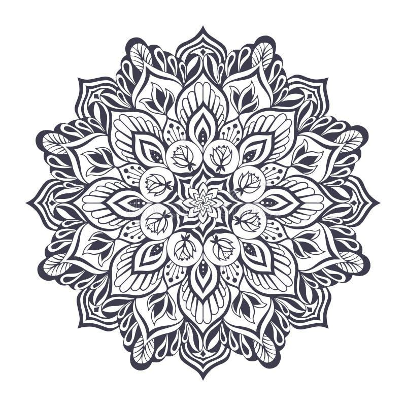 Zwart-wit mandala Vector illustratie vector illustratie