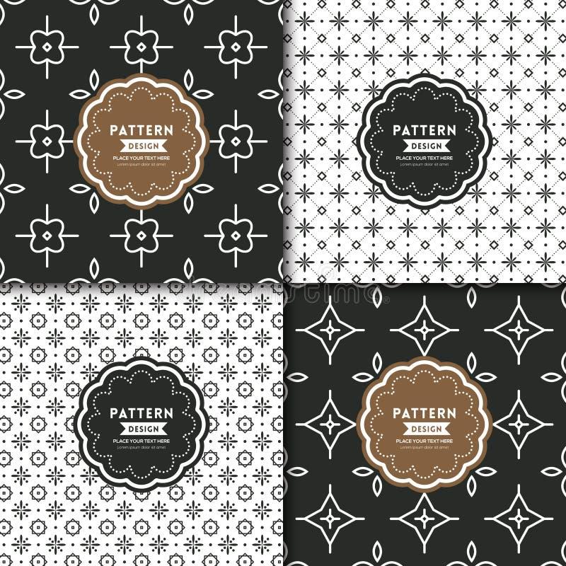 Zwart-wit modern geometrisch motief naadloos patroon vector illustratie