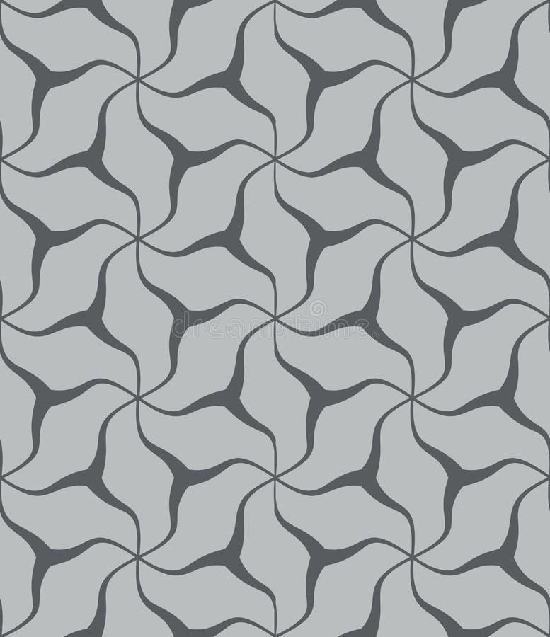 Zwart-wit naadloos curvy knopenpatroon royalty-vrije illustratie