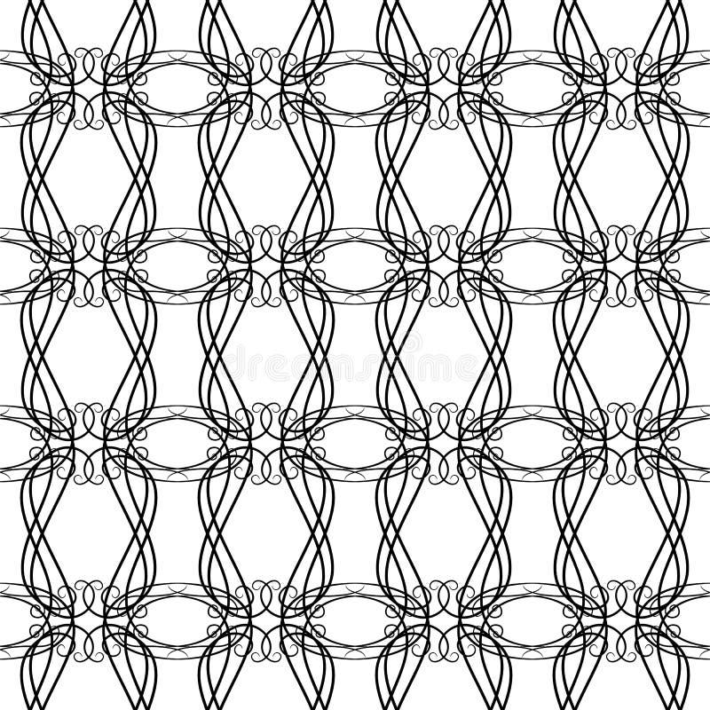 Zwart-wit NAADLOOS GEOMETRISCH GEKLETS/ALS ACHTERGROND ONTWERP moderne modieuze textuur Het herhalen en editable Kan voor prin wo vector illustratie