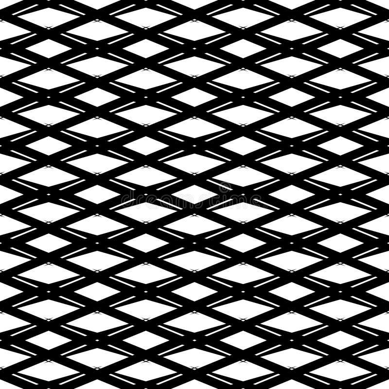 Zwart-wit naadloos geometrisch patroon Herhaalbare textuur/ royalty-vrije illustratie