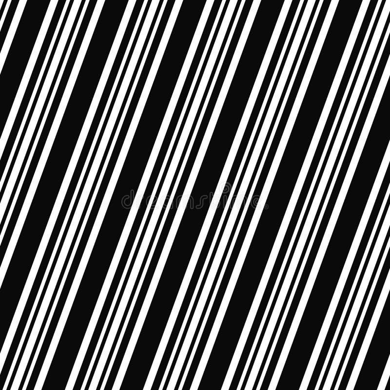 Zwart wit naadloos hoekig lijnpatroon vector illustratie