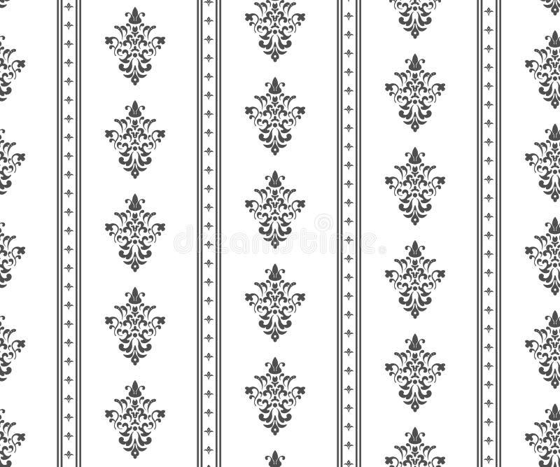 Zwart-wit naadloos klassiek patroon vector illustratie