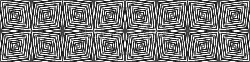 Zwart-wit naadloze rand Scrollen Geometrisch stock illustratie