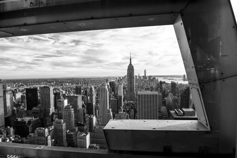 Zwart-wit op New York stock fotografie