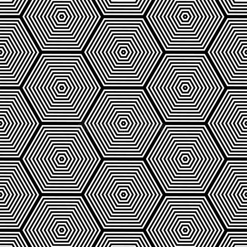 Zwart-wit opteer Art Seamless stock illustratie