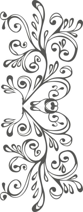 Zwart-wit ornament stock afbeelding