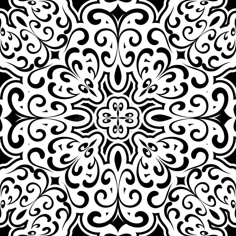 Zwart-wit patroon stock illustratie