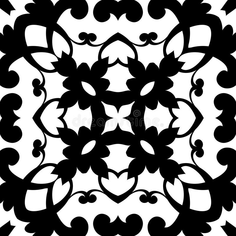 Zwart-wit Patroon Stock Foto