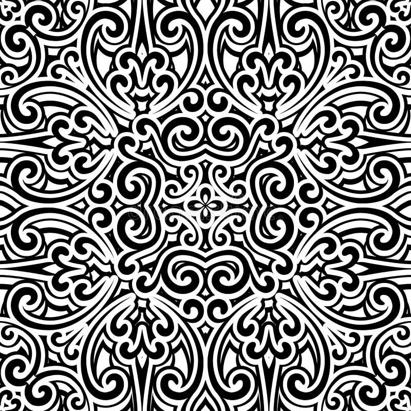 Zwart-wit patroon royalty-vrije illustratie