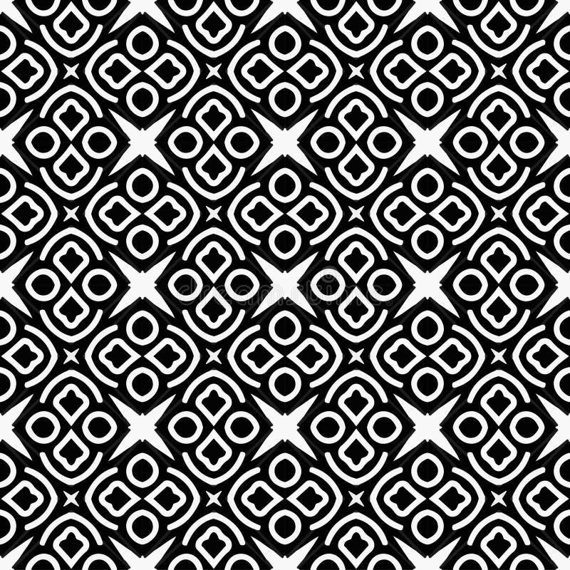 Zwart-wit pattern_2 vector illustratie