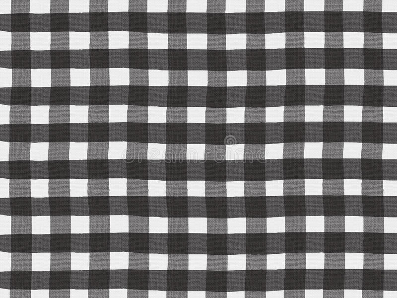 Zwart-wit plaidpatroon op linnenstof royalty-vrije illustratie