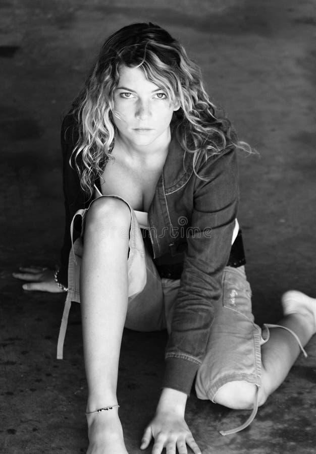 Zwart-wit portret stock fotografie
