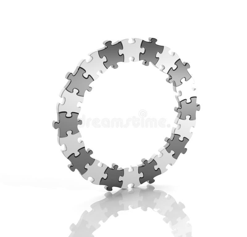 Zwart-wit raadsel vector illustratie