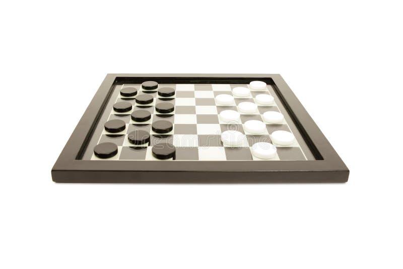 Zwart-wit raadsspel royalty-vrije stock foto