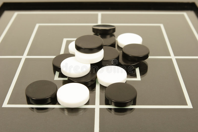 Zwart-wit raadsspel royalty-vrije stock fotografie