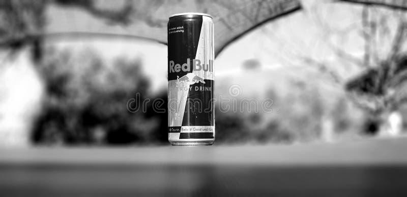 Zwart-wit Red Bull royalty-vrije stock foto