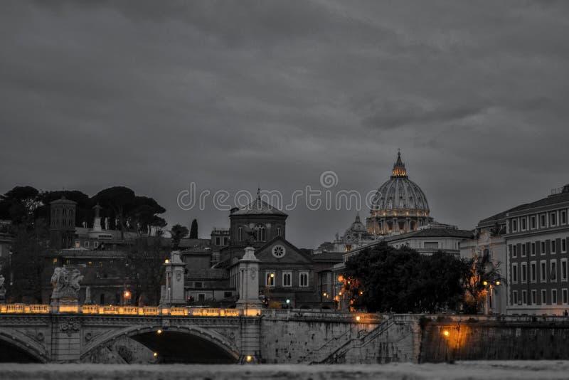 Zwart-wit Rome stock afbeelding