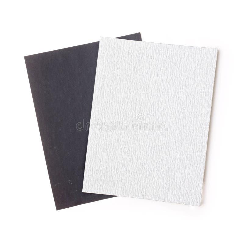 Zwart-wit schuurpapier stock foto's