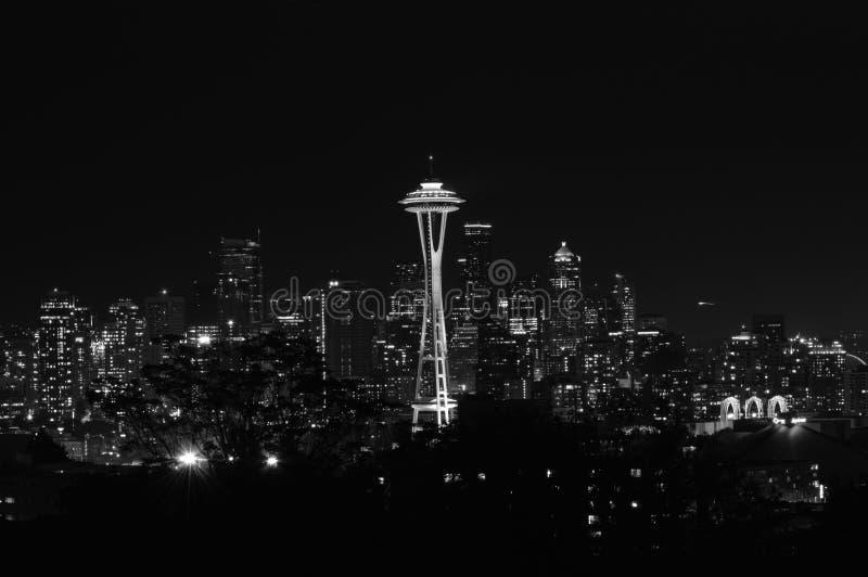 Zwart-wit Seattle stock foto's