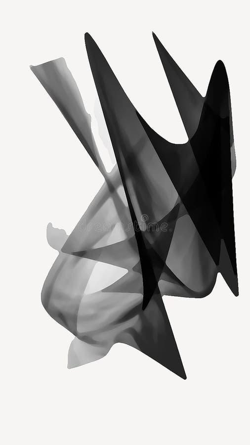 Zwart-wit sluierontwerp royalty-vrije illustratie