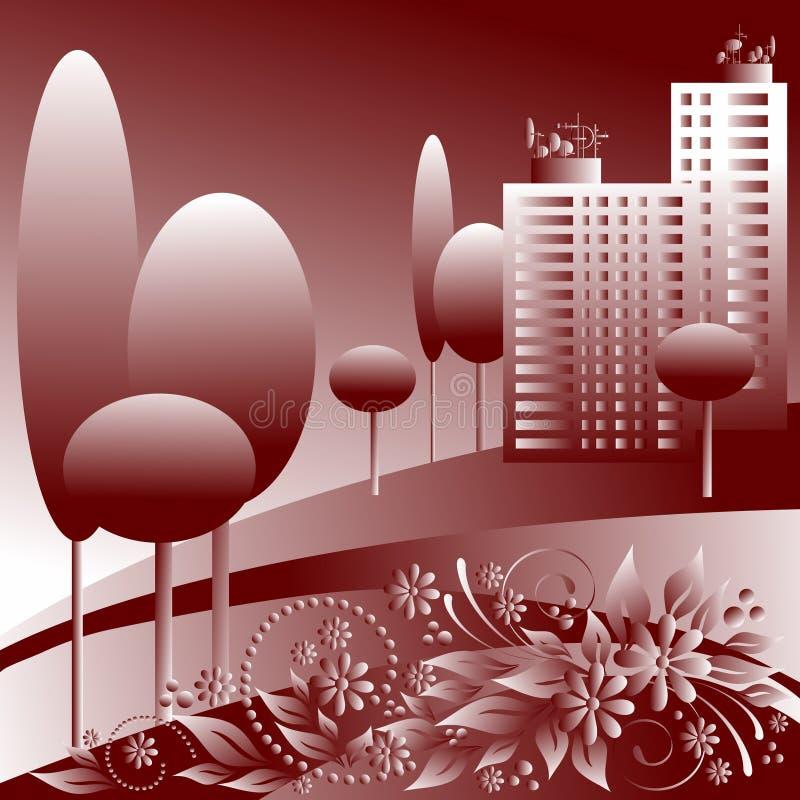 Zwart-wit stad vector illustratie