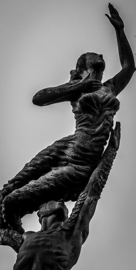 Zwart-wit standbeeld royalty-vrije stock afbeelding