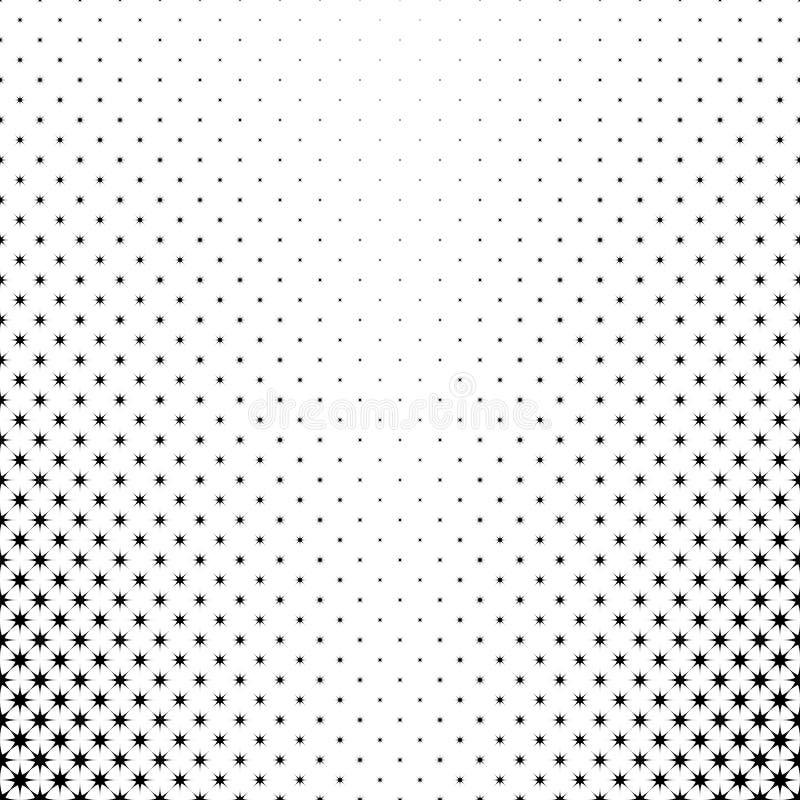 Zwart-wit sterpatroon - abstracte vectorachtergrond van geometrische veelhoekige vormen stock illustratie