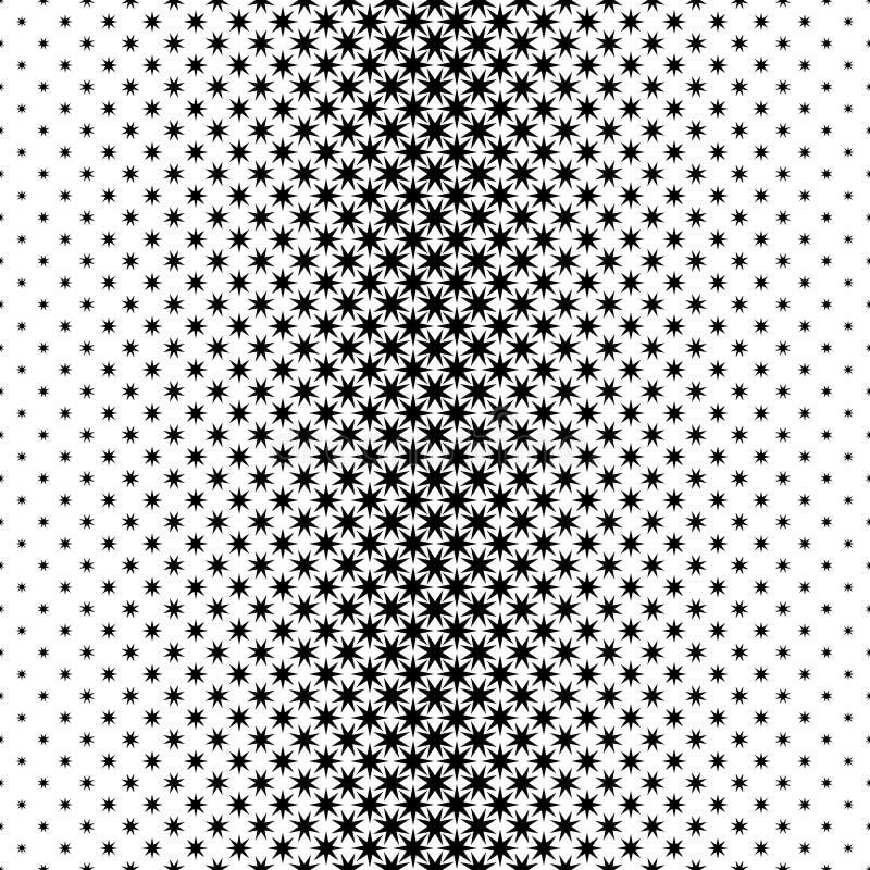 Zwart-wit sterpatroon - vector grafisch ontwerp als achtergrond van geometrische veelhoekige vormen royalty-vrije illustratie