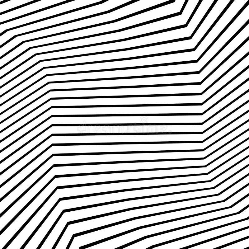 Zwart-wit textuur, zwart-wit patroon met willekeurige vormenlijnen stock illustratie