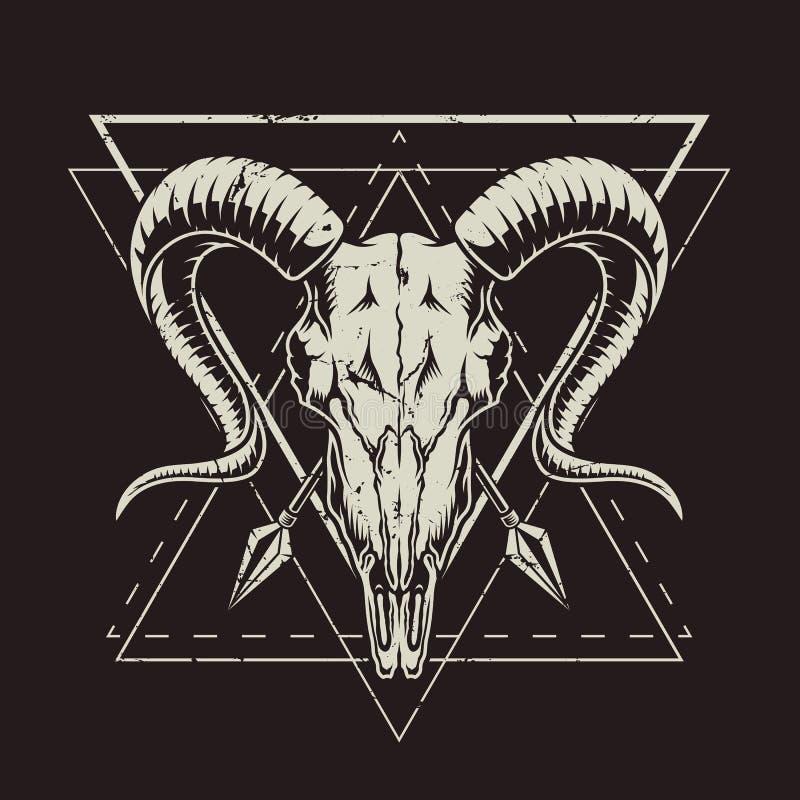 Zwart-wit uitstekende emblemen stock illustratie