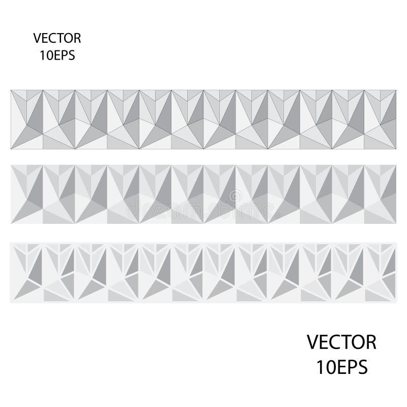 Zwart-wit Veelhoekig Patroon vector illustratie