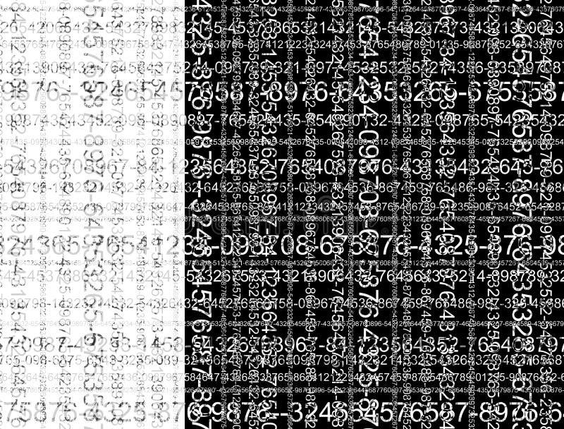 Zwart-witte aantallen vector illustratie