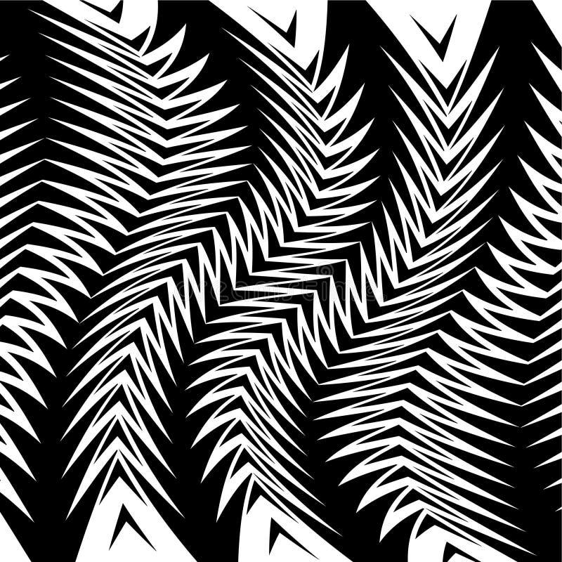 Zwart-witte abstracte gestreepte achtergrond vector illustratie