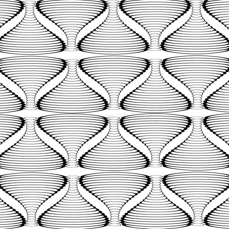 Zwart-witte abstracte gestreepte achtergrond royalty-vrije illustratie
