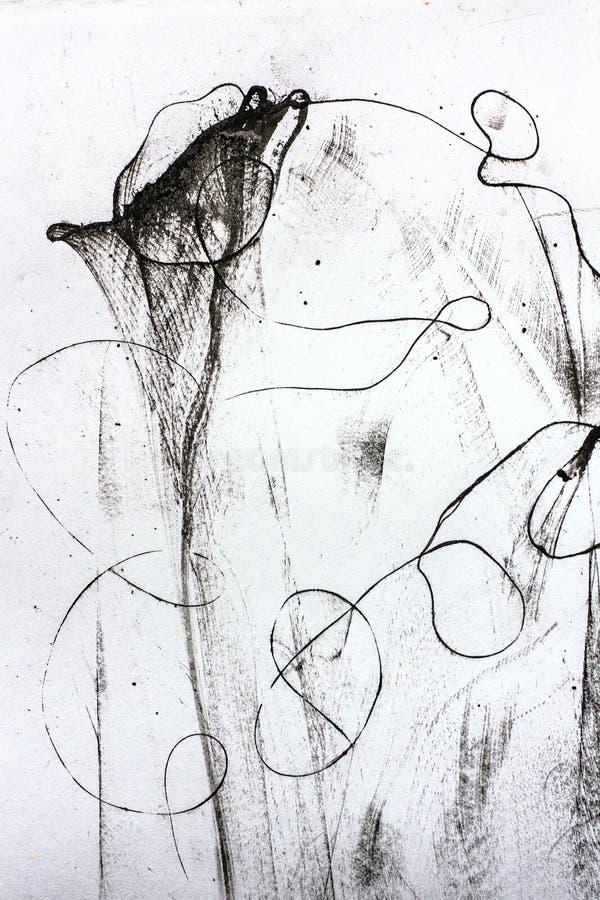 Zwart-witte abstracte samenstelling vector illustratie