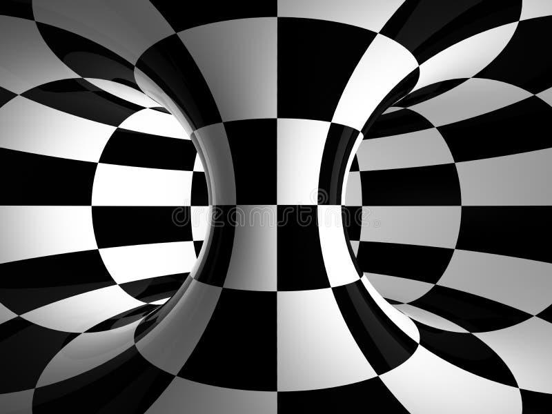 Zwart-witte abstractie stock illustratie