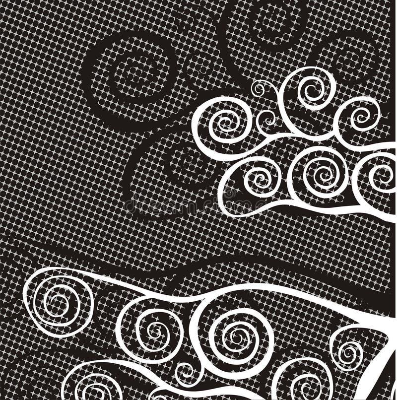 Zwart-witte achtergrond stock illustratie