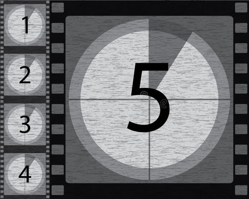 Zwart-witte aftelprocedure vector illustratie